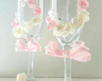 Custom Made Wedding Champagne Glasses
