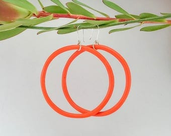 Orange Hoop Earring | Big Mama