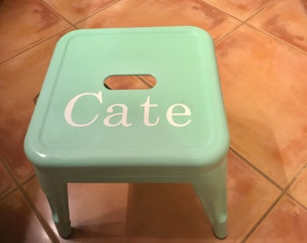 Personalized metal stool