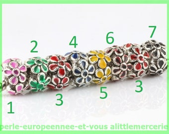 Pearl European N639 N2 flower spacer for bracelet charms