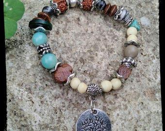 Bracelet stones serpentines lithotherapy