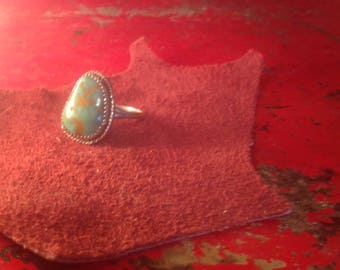 Sterling Silver & Turquoise Ring Size 9 South Western