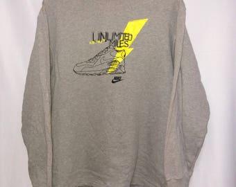 Vintage Nike Air Max Sweater/Sweatshirt/sportwear Large Size