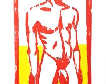 Été (Summer) - woodcut
