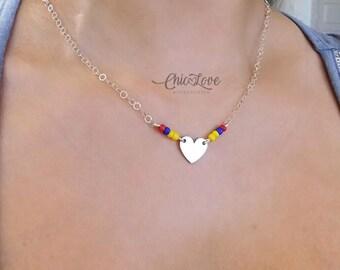 Gargantilla de Colombia, Colombian Necklace, Necklace, Colombia's flag
