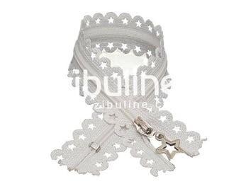 Zipper stars - inseparable nylon - white - 25 cm