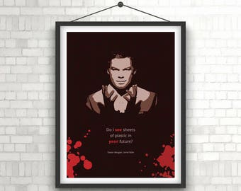 DEXTER MORGAN - Michael C. Hall Portrait Poster Print