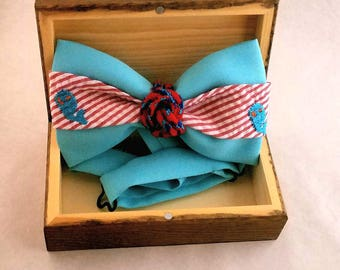 Bow Tie Nautical Style With  Whales