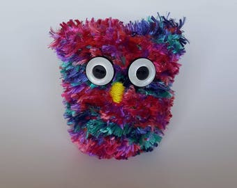 Create Your Own - adorable, hand-knit, stuffed owl (size medium)