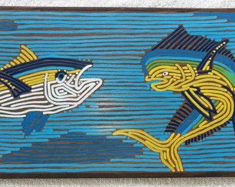Local Art, Hawaiian Art, Fish, Oahu, Hawaii