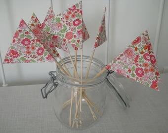 Pink Liberty anjo decoration flags