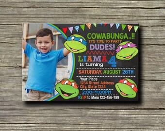 Ninja Turtle Invitation,Ninja Turtle Birthday,Ninja Turtle Birthday Invitation,Ninja Turtle Party,Ninja Turtle Birthday party,Ninja-NR181
