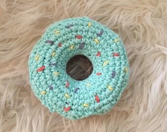 Crochet Donut Rattle (BLUE)