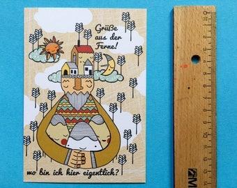 "3x Eco-Postcard ""from afar"""