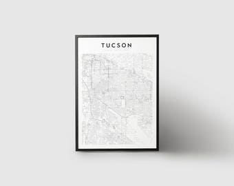 Tucson Map Print