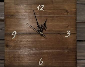 Square Pallet Wood Clock