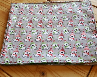 Christmas placemats - puppy