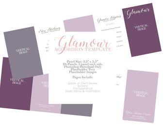 Glamour Accordion Card