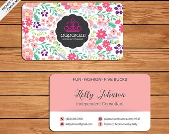 Paparazzi Business Card, Custom Paparazzi Accessories Business Card, Fast Free Personalization, Printable Business Card PZ10