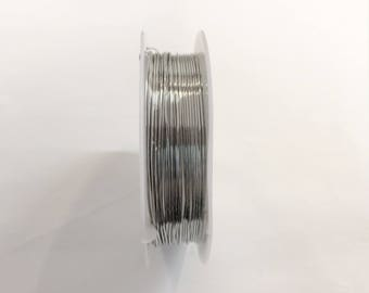 Copper wire 0.60 mm silver for jewellery designs