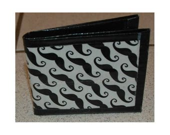 Mustache Bi-Fold Duct Tape Wallet