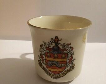 Poole- Crested China mug, cup. W.H. Goss