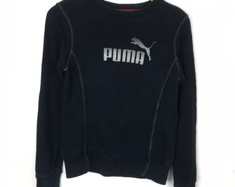 Rare!!! Vintage!!! Puma Sweatshirt Pullover  Big Logo Spellout Embroidery Jumper
