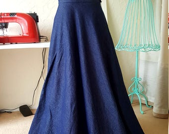 Denim Gown, two pieces denim outfit