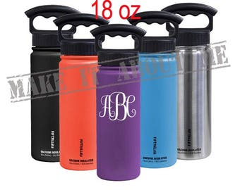 Personalized  18 oz  Double-Wall Vacuum Insulated Water Bottle