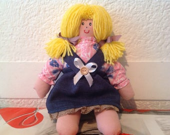 Pretty doll in cloth, made entirely by hand