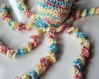 Crochet octopus, crochet jellyfish, rainbow jellyfish, cuddle buddy