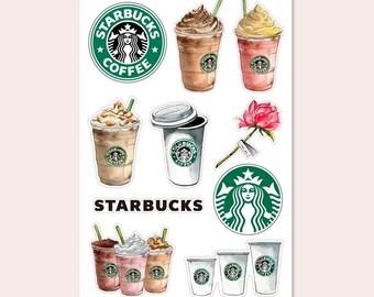 Classic Coffee lover Starbucks coffee stickers