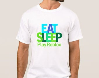 eat sleep and play roblox t-shirt, ROBLOX T Shirt Top Gaming New XBOX PS4 GAMER Adventures Gamers. Gamer Gaming Funky Top