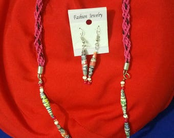Recycled paper Jewellery.