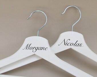 Lot de cintres personnalisables pour mariage