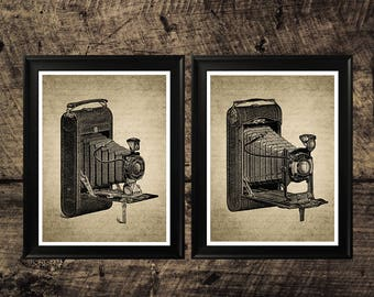 Vintage photo camera print, vintage home decor, photo camera wall art, printable wall design