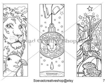 Coloring Bookmarks/Bible Journaling Template -Dave O'Connell