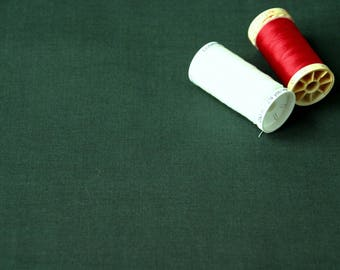 Patchwork cotton plain dark green Christmas fabric
