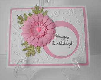 "Handmade Greeting Card, Happy Birthday, Standard 4.1/4 x 5.1/2"""