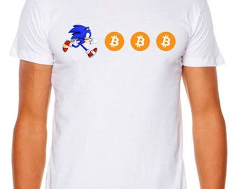 Bitcoin Sonic Coins Cryptocurrency Funny As Colour T-Shirt