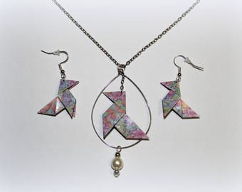 Pine Cone #3 origami necklace