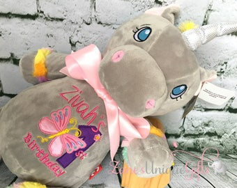 Personalised Unicorn Teddy Bear / Personalised Toy / Teddy bear For Baby / Cubbies /  Embroidered Teddy / New Baby Gift / Personalised Gift