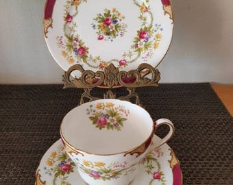 Shelley Fine Bone China/England/Dubavey No 23395 Trio/Cup, Saucer,Side Plate Excellent condition