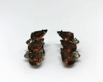 Antique earrings | Vintage earrings | Gemstone earrings | Clip on earrings