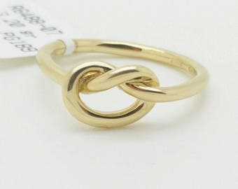 14k Solid Yellow Gold Pretzel Knot Design Band Ring /unique ring/birthday gift/graduation/mothers day/best selling ring/sale/girlfriend/