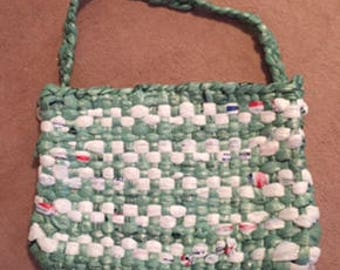 Handmade From Recycled Plastic Bags Beach Bag