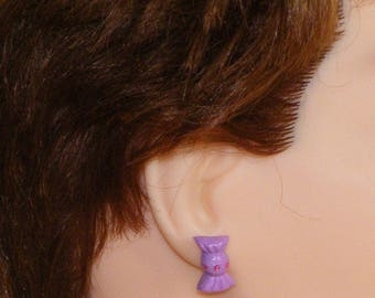 Polymer clay candy earring