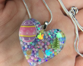 ON SALE Easter resin necklace