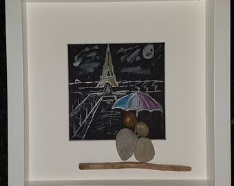 La dame de fer/lovers pebble art picture