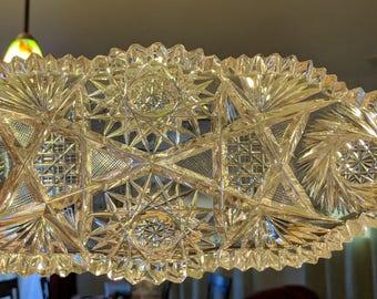 Vintage Oblong Crystal dish